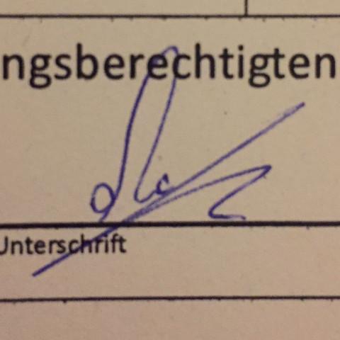 Unterschrift - (Schule, Unterschrift)
