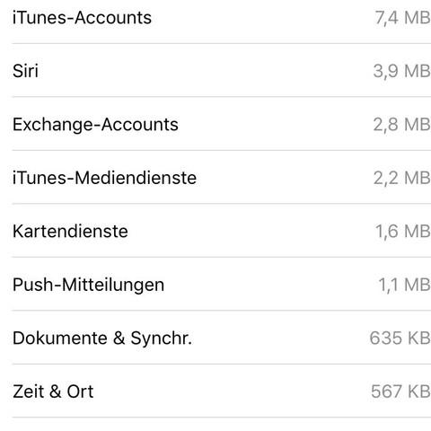 """Sehr hoher Datenverbrauch von """"DNS-Dienste"""" auf iPhone"""
