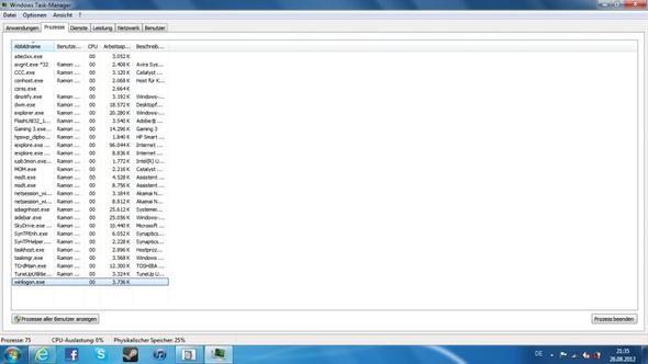 Meine Prozesse - (Computer, PC, RAM)