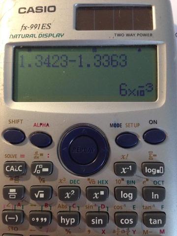 Anzeige - (Mathematik, Taschenrechner, Casio)