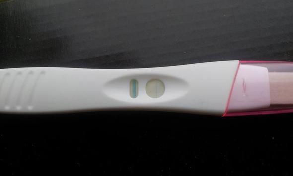 Das ist der Test so sah er bei mir auch aus  - (Schwangerschaft, Schwangerschaftstest)