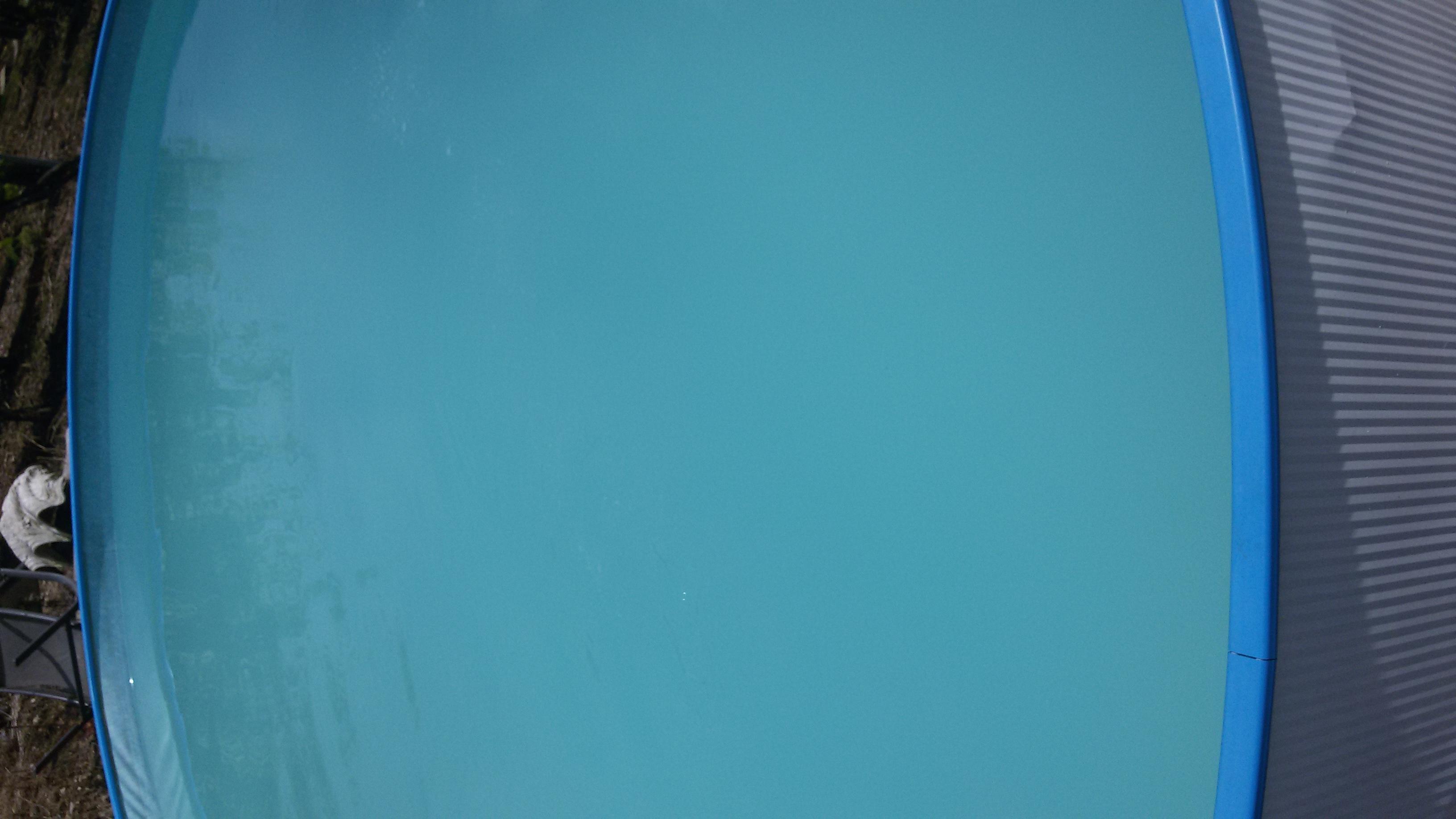 sehr milchiges und tr bes poolwasser garten pool. Black Bedroom Furniture Sets. Home Design Ideas