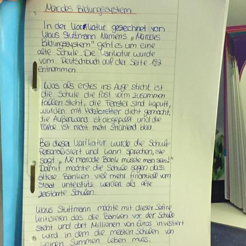 das ist der Text von mir geschrieben  - (Schule, Deutsch, Grammatik)