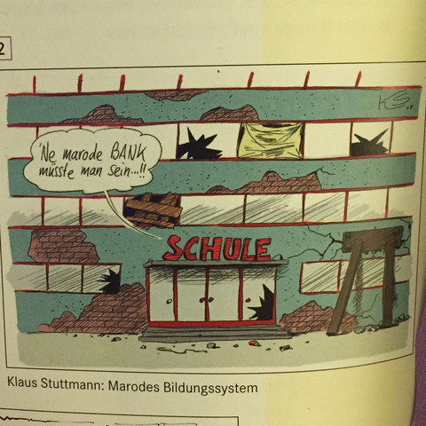 das ist die vorgegebene Karikatur  - (Schule, Deutsch, Grammatik)