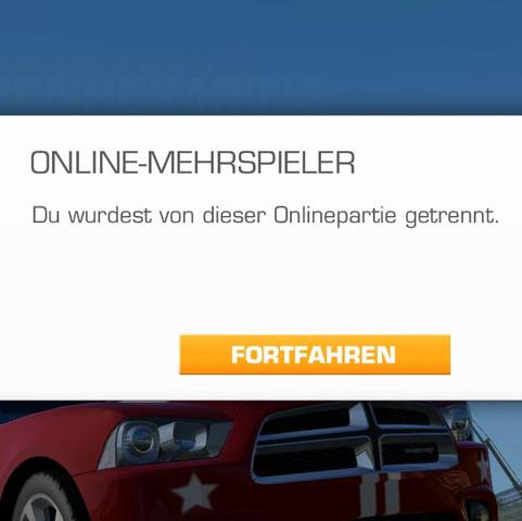 """""""Du wurdest von Onlinepartie getrennt"""" - (online, ios, Multiplayer)"""