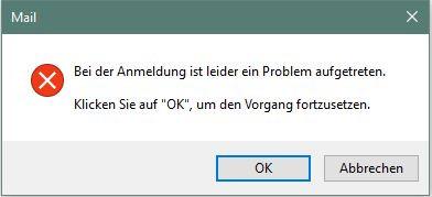 Das kommt direkt beim Öffnen von Outlook. - (Computer, PC, Windows)
