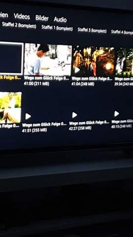 Seit neuem Fernseher sehe ich nicht die Dateien vom Usb vollständig?