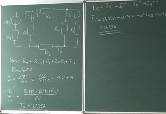 Tafelbild zu der Problematik - (Elektronik, Elektrik, Elektrotechnik)