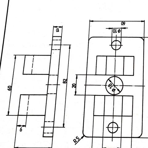seitenansicht von links im schnitt wie zeichnen technik kunst und kultur technisches zeichnen. Black Bedroom Furniture Sets. Home Design Ideas