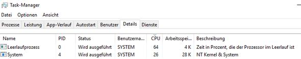 cpu - (Windows 10, cpu, System)