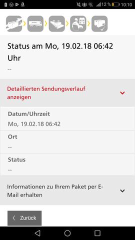 - (Paket, DHL, international)
