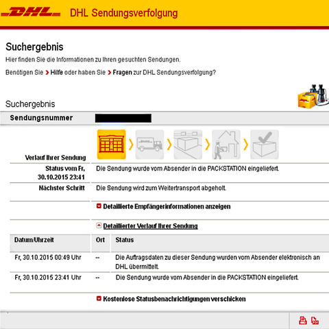 sendungsverfolgung wie wann geht es weiter paket dhl. Black Bedroom Furniture Sets. Home Design Ideas