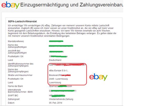 Paypal Lastschriftmandat