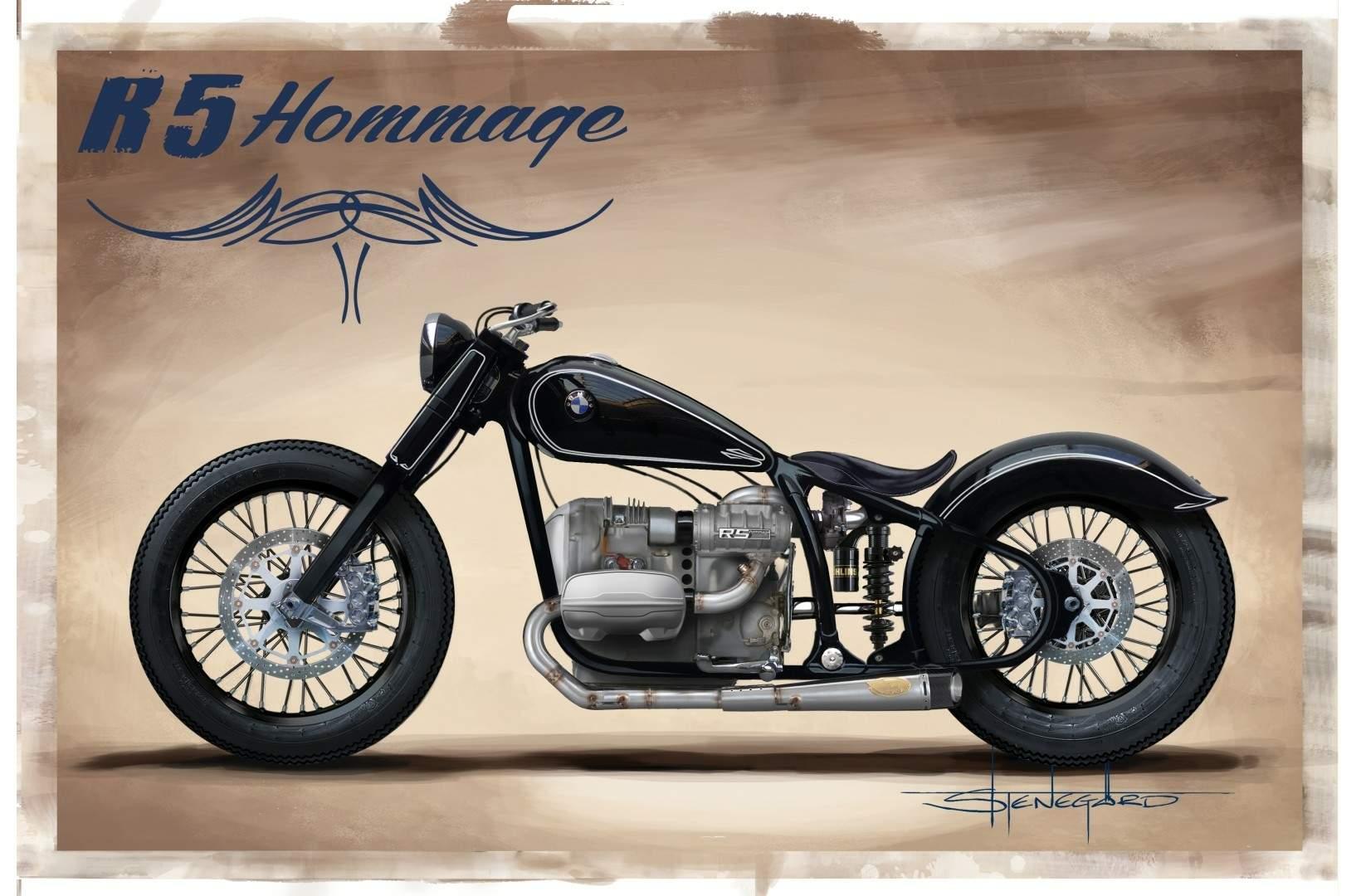 Serien Chopper Motorrad mit ähnlichem Rahmen bez. einer ähnlichen ...