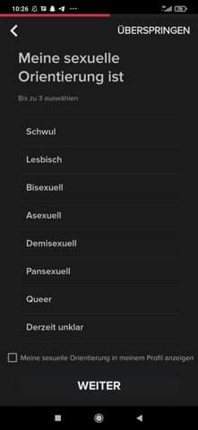 Sexuelle Orientierung?