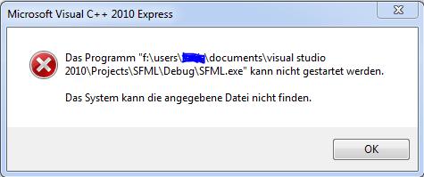 Fehlermeldung SFML - (Computer, programmieren, CPP)