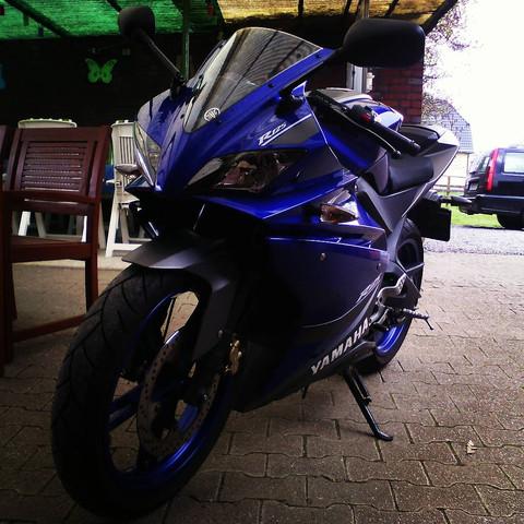 Noch ist das Original dran ^^ - (Motorrad, Yamaha, Auspuff)
