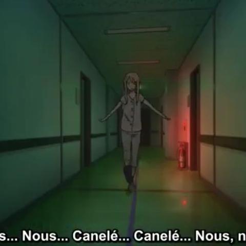 Da kommt sie plötzlich nach dem Anruf vom Arima Kŝusei - (Anime, Serie, Kaori)