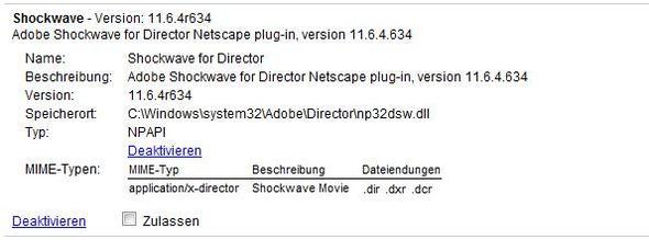Beschreibung d. Shockwave-Plugins - (Chrome, Flash, Abgestürzt)