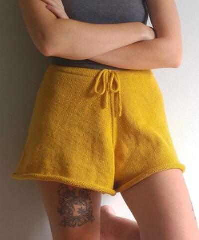 Shorts Stricken, welche Wolle?