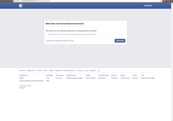 Facebook Sperre