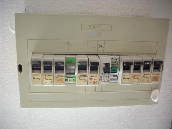 Das ist der Sicherungskasten - (Elektrik, Sicherungskasten, Elektroanlage)