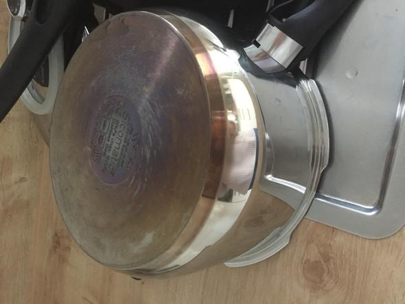 Sicomatic / Dampfdrucktopf ohne Wasser erhitzt- Edelstahl braun verfärbt- kann ich ihn noch verwenden?
