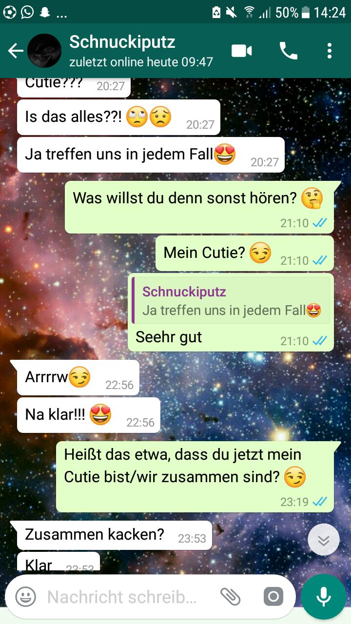 Mädchen flirten