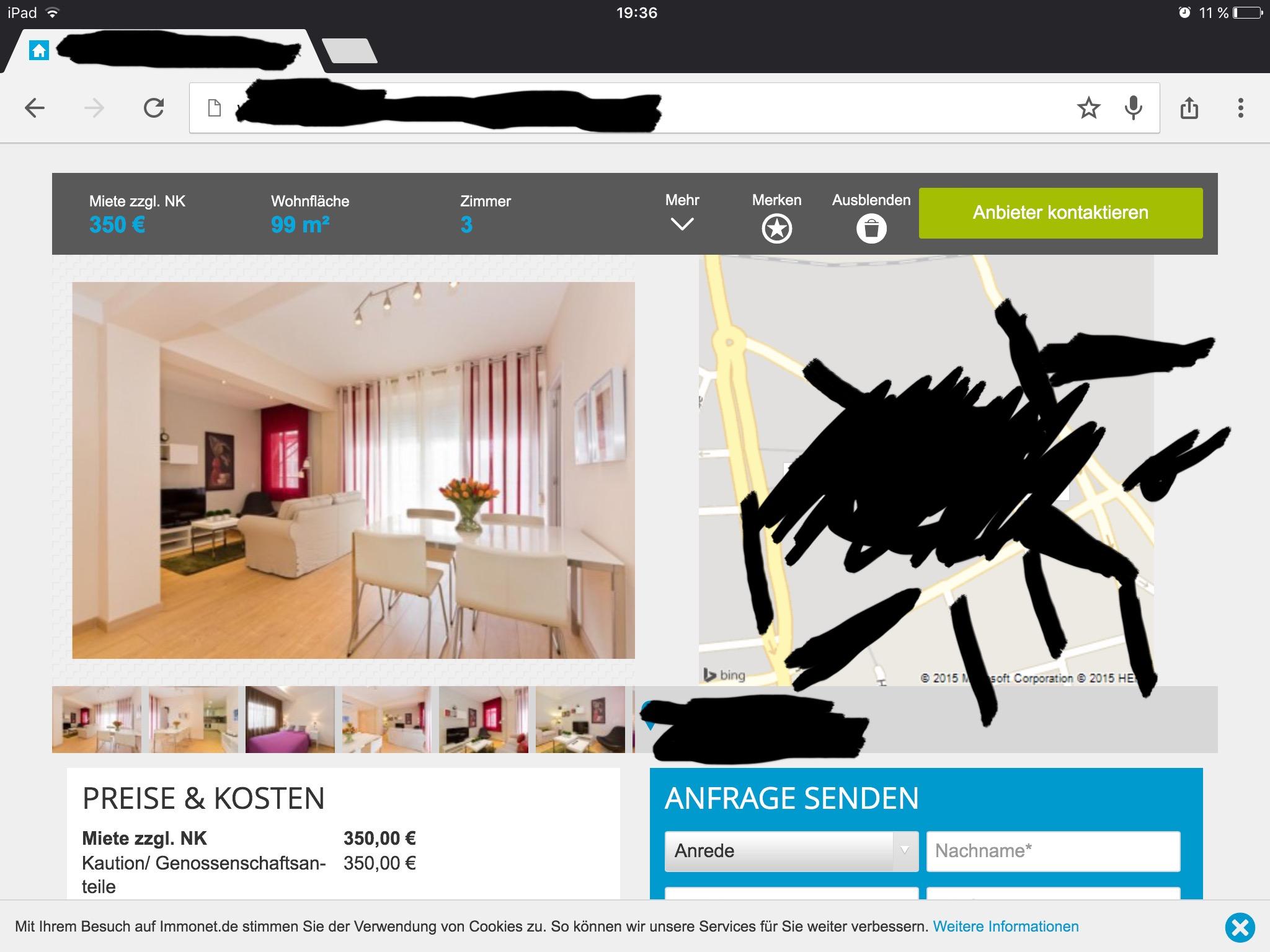 wie hoch sind die nebenkosten und ist diese wohnung zu gro f r mich mieten erste wohnung. Black Bedroom Furniture Sets. Home Design Ideas
