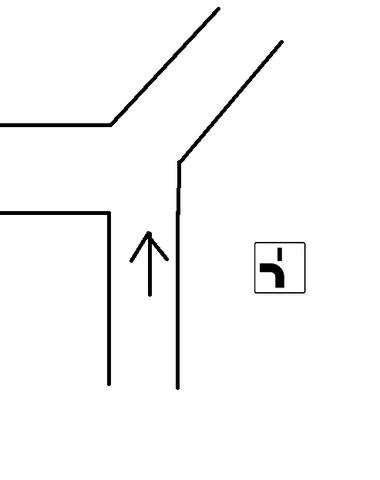 Straße - (Straße, vorfahrtsschild)