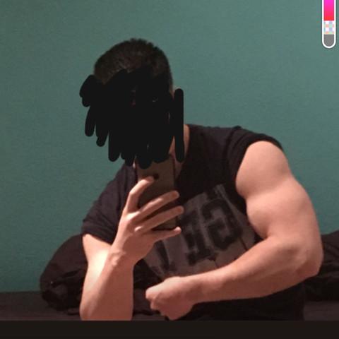 Sieht dieser Arm gut trainiert aus? (Fitness, Training, Muskeln)