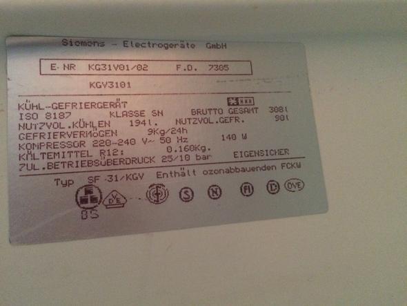 Bosch Kühlschrank Baujahr Herausfinden : Siemens kühlschrank mit gefrierkombination stromverbrauch