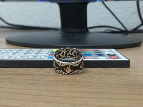 """Silber Ring mit schwarzem """"Carbon"""" reinigen, wie?"""