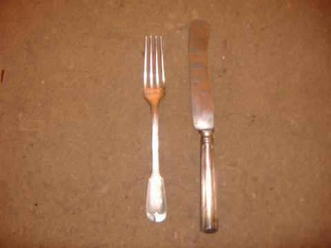 Tafelsilber-Besteck - (Alter, Reinigung, Messer)