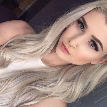 Graue haare platinblond farben