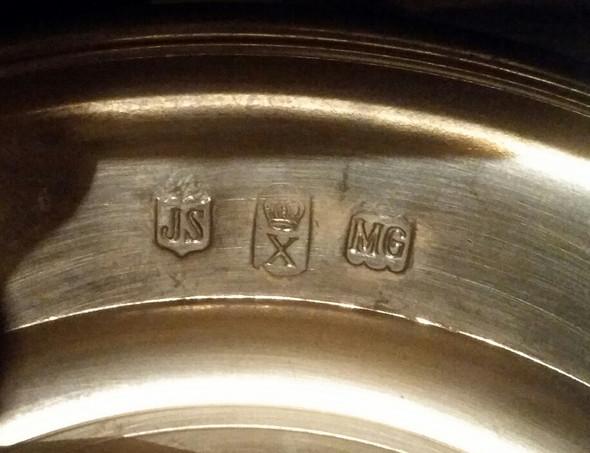 Silberteller Kontrollstempel  - (Silber, Antiquitäten, Antik)