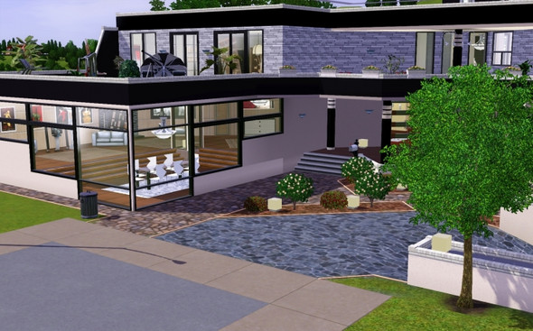 Sims 3 hohe wand bauen haus for Modernes haus sims
