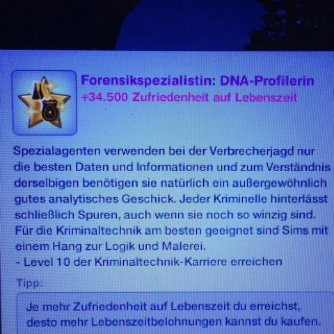 Sims 3 Kriminaltechnik-Karriere  - (Technik, Beruf, Polizei)