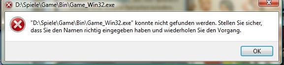 Hier die Meldung - (Sims 3, spiel startet nicht, GameWin32.exe)