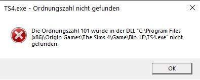 Sims 4 geht nicht mehr?