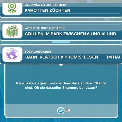 Aufgabe - (Sims, Freeplay)