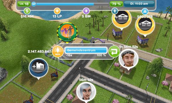 das Bild mit dem doofen Gemeindezentrum :D - (Fehler, Sims, sims freispiel)