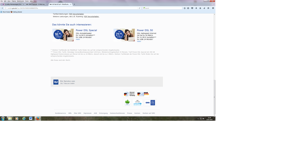Screenshot 1&1 - (Telekom, Telefonanbieter, Eins und Eins)