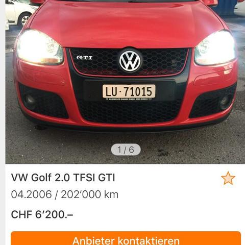 Bild vom auto - (Auto, VW, Golf)