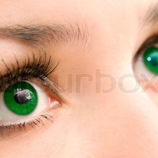 Sind das Natur grüne Augen (siehe Bild)? (grün, natürlich)