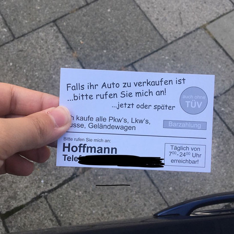 Sind Diese Autohändler Seriös Visitenkartenverteiler