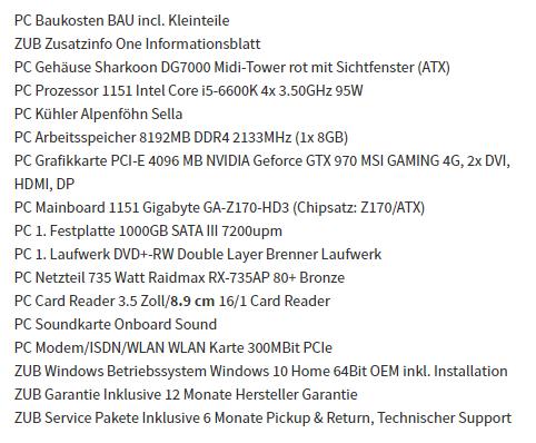 hier die Komponenten - (Computer, PC, Computerspiele)
