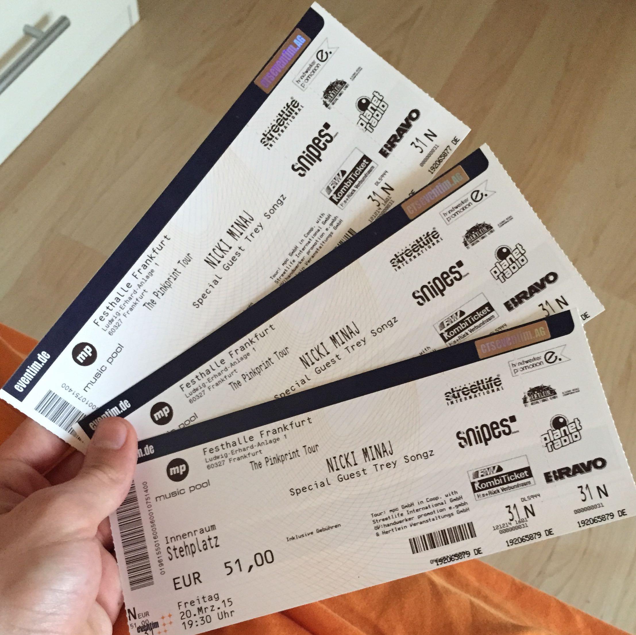 Sind Diese Nicki Minaj Eventim Tickets Original? (Ticket