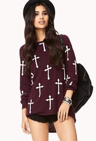 kreuz - (Mode, Style, Pullover)