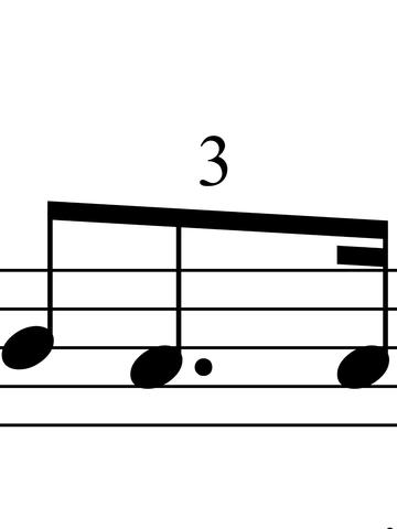 Punktierung in Triole - (Musik, Noten, Klavier)